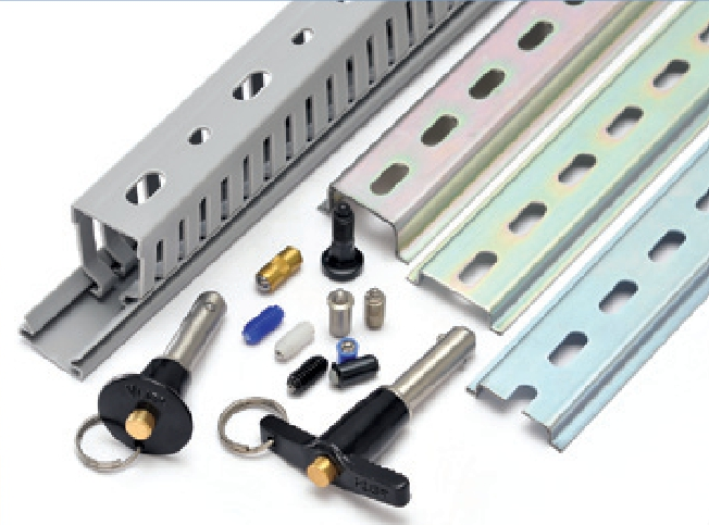 DIN Rails, Pins Quick Release, Wire Ducts & Plungers Sping Loaded Image